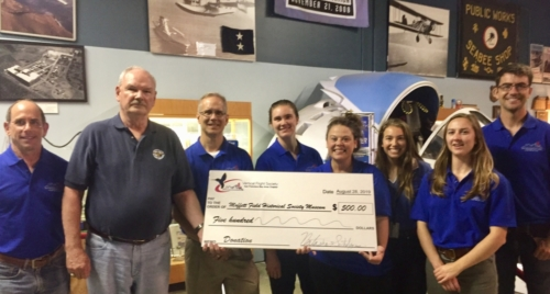VFS presents a donation to the Moffett Field Historical Society Museum